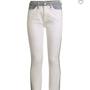 Joie Gracelyn Two-Tone Skinny Ankle Jeans